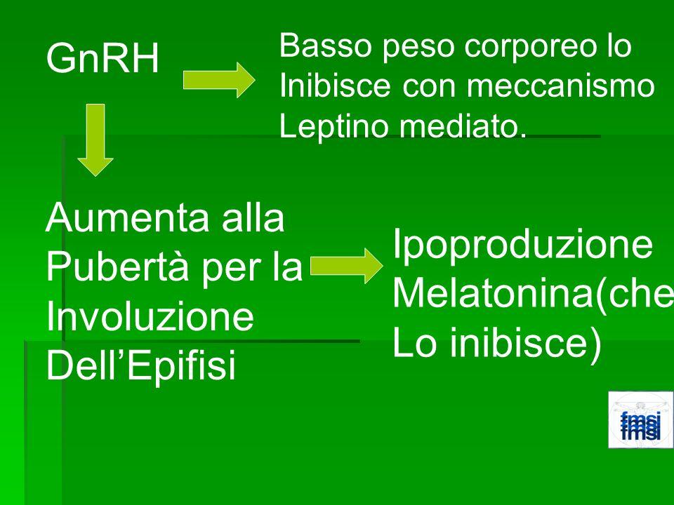GnRH Aumenta alla Pubertà per la Ipoproduzione Involuzione