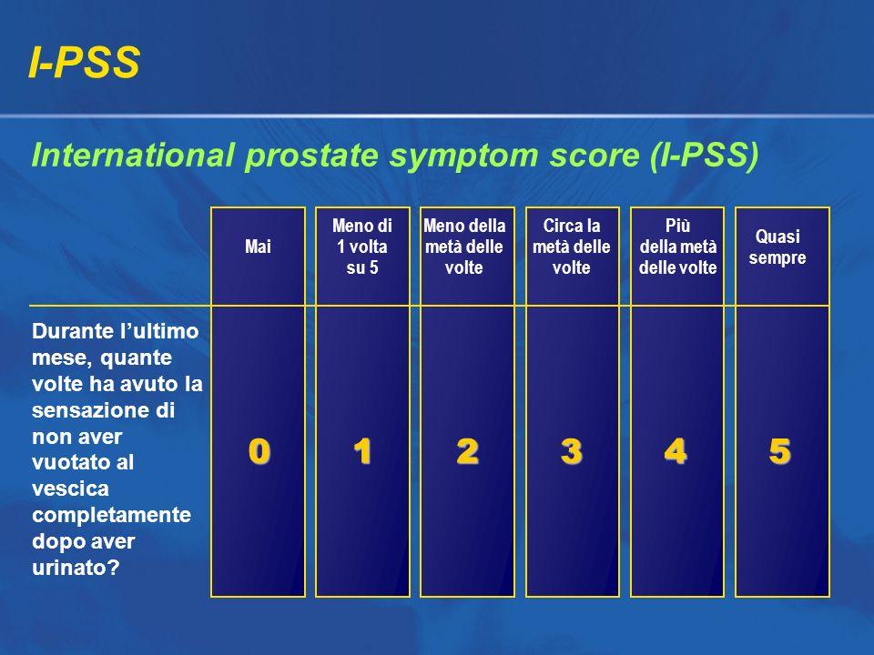 I-PSS International prostate symptom score (I-PSS) 1 2 3 4 5