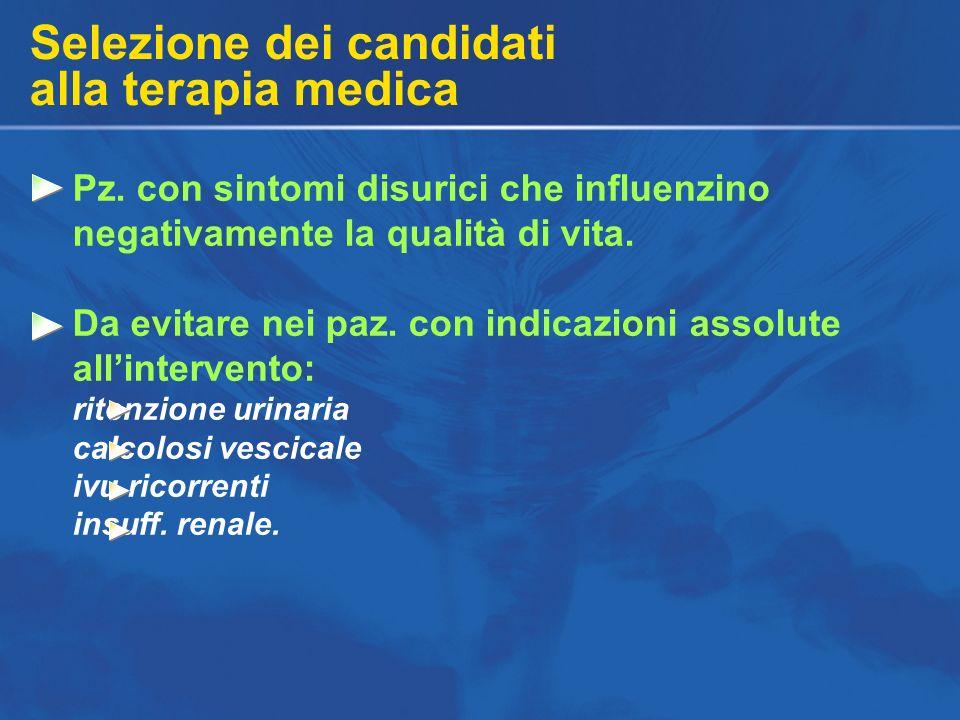 Selezione dei candidati alla terapia medica