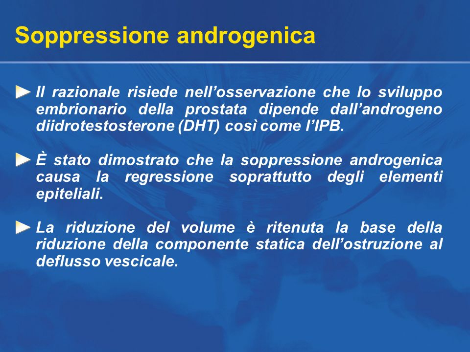 Soppressione androgenica
