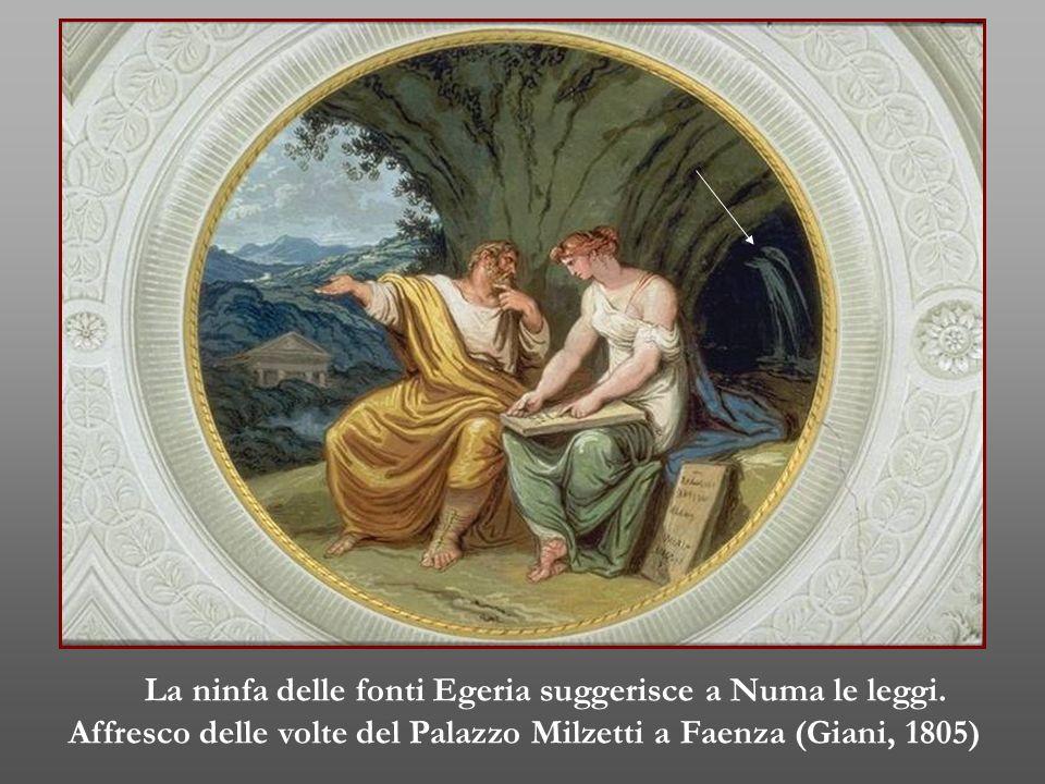 La ninfa delle fonti Egeria suggerisce a Numa le leggi.