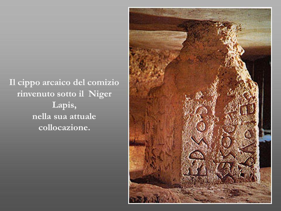 Il cippo arcaico del comizio rinvenuto sotto il Niger Lapis,