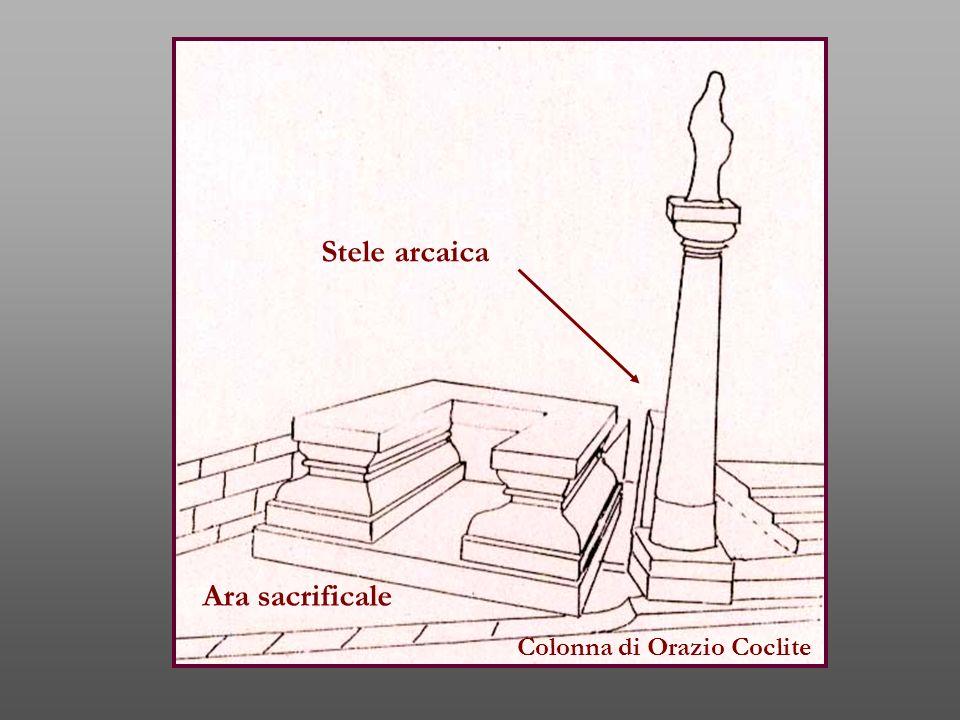 Stele arcaica Ara sacrificale Colonna di Orazio Coclite