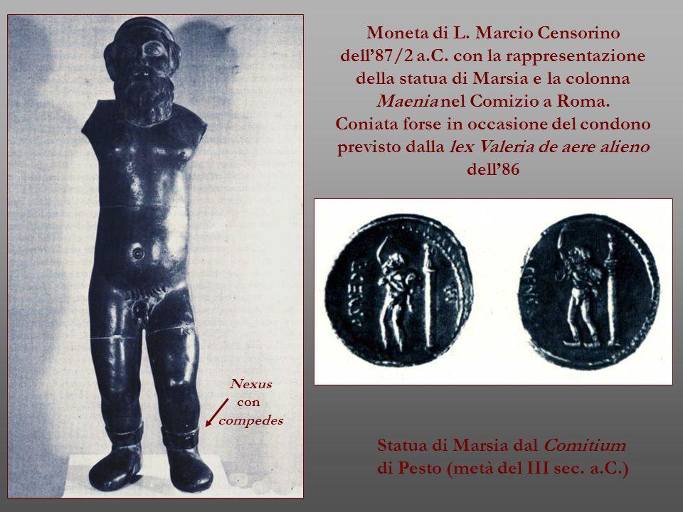 Moneta di L. Marcio Censorino dell'87/2 a.C. con la rappresentazione