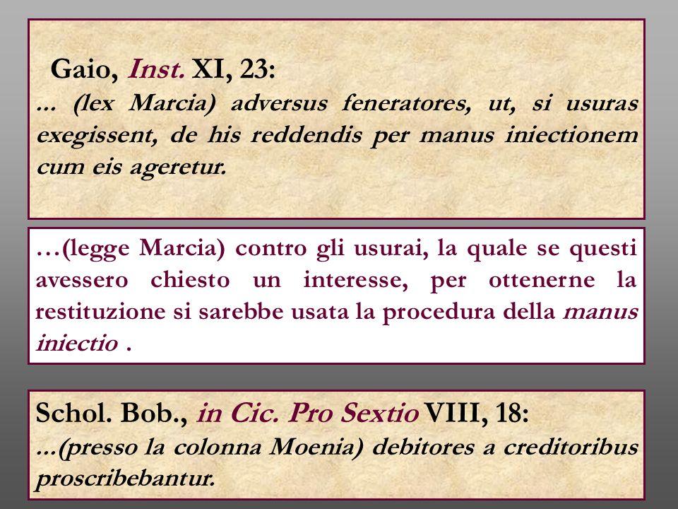 Schol. Bob., in Cic. Pro Sextio VIII, 18: