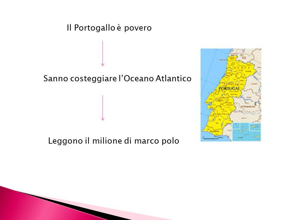 Il Portogallo è povero Sanno costeggiare l'Oceano Atlantico Leggono il milione di marco polo