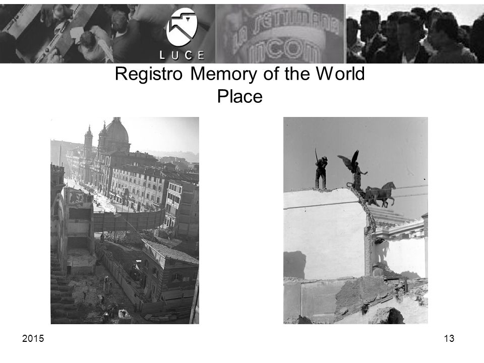 Registro Memory of the World Place