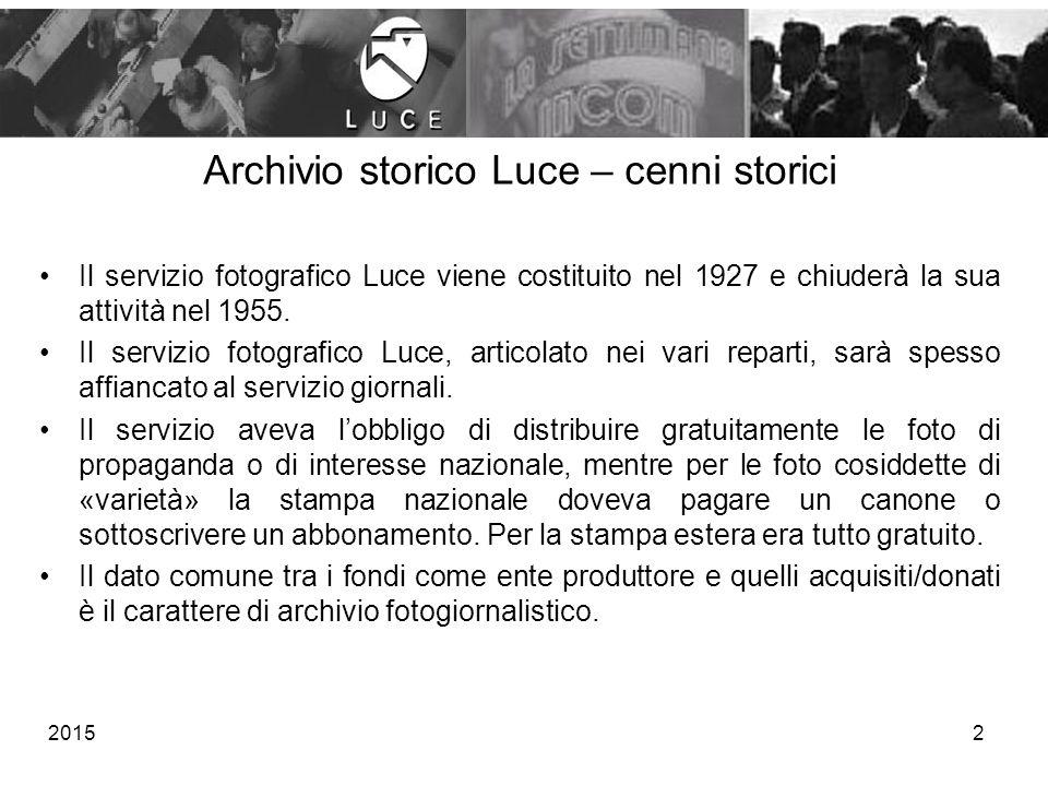 Archivio storico Luce – cenni storici