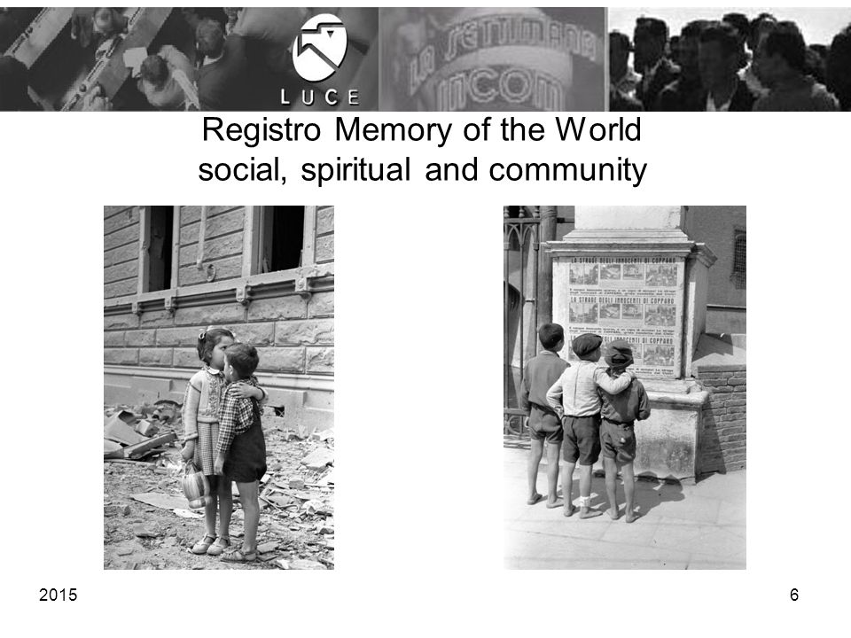 Registro Memory of the World social, spiritual and community