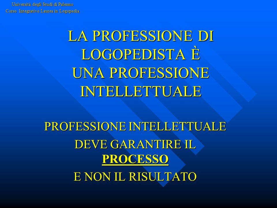 LA PROFESSIONE DI LOGOPEDISTA È UNA PROFESSIONE INTELLETTUALE