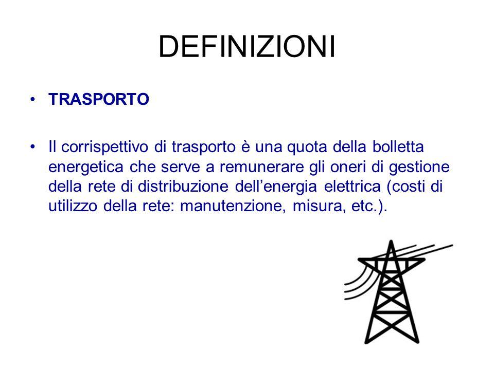 DEFINIZIONI TRASPORTO