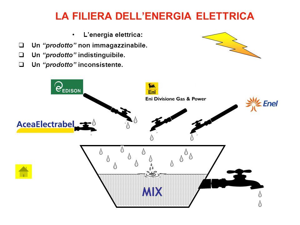 LA FILIERA DELL'ENERGIA ELETTRICA