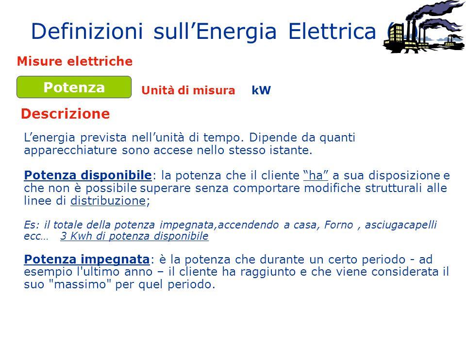 Definizioni sull'Energia Elettrica (1)
