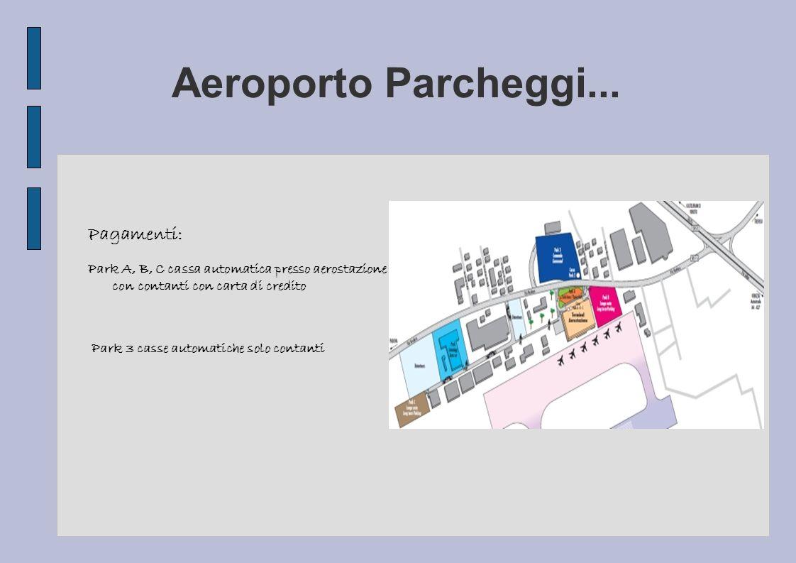 Aeroporto Parcheggi... Pagamenti: