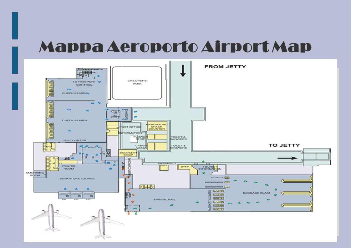 Mappa Aeroporto Airport Map