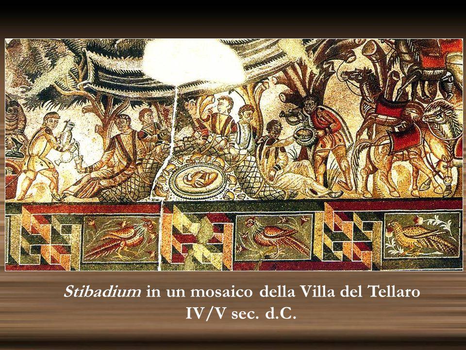 Stibadium in un mosaico della Villa del Tellaro
