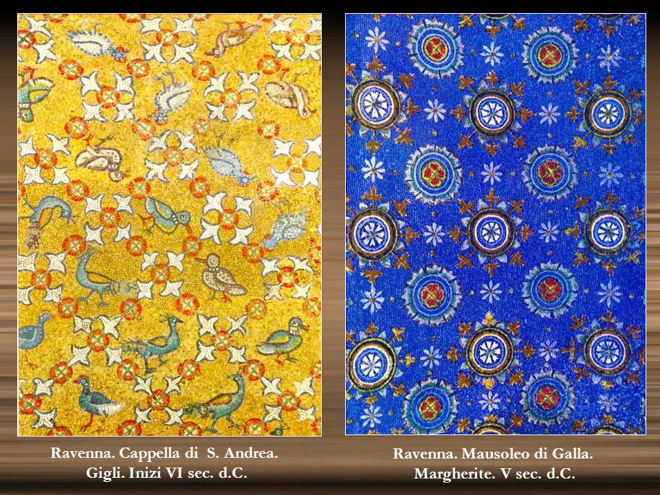 Ravenna. Cappella di S. Andrea. Ravenna. Mausoleo di Galla.