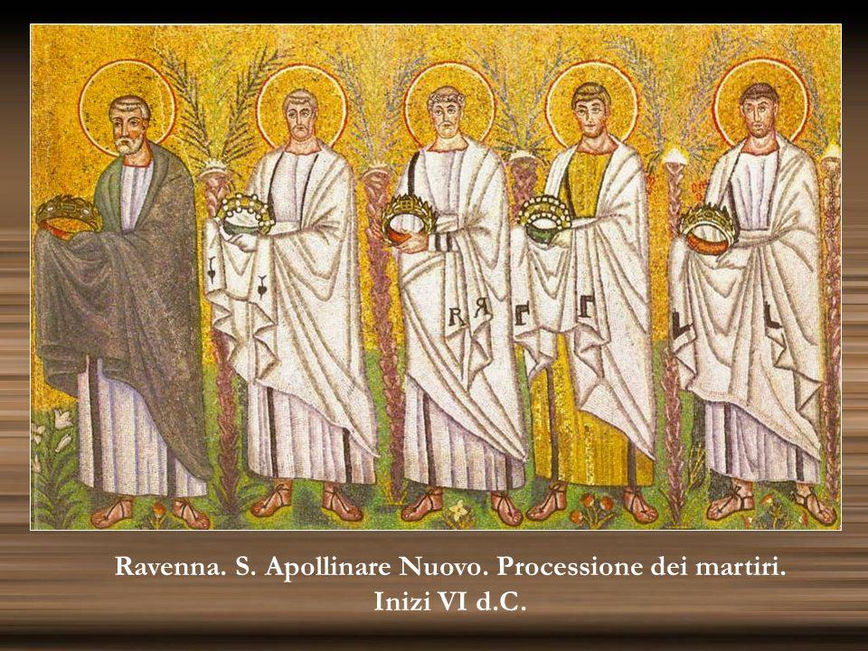 Ravenna. S. Apollinare Nuovo. Processione dei martiri.
