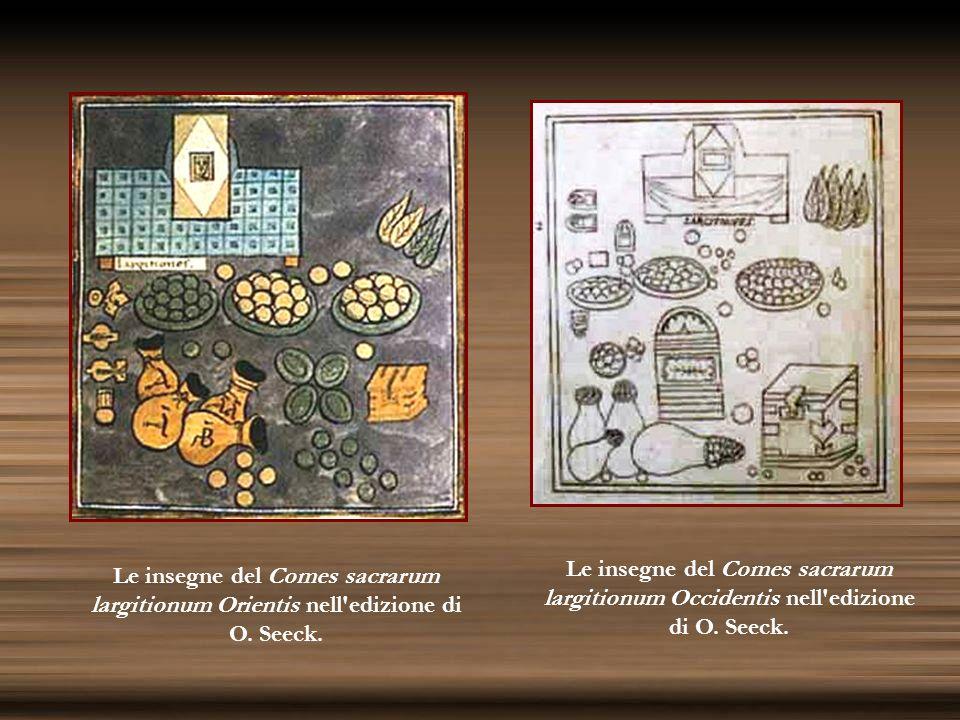 Le insegne del Comes sacrarum largitionum Occidentis nell edizione di O. Seeck.