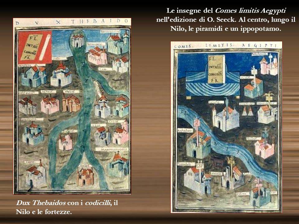 Le insegne del Comes limitis Aegypti nell edizione di O. Seeck