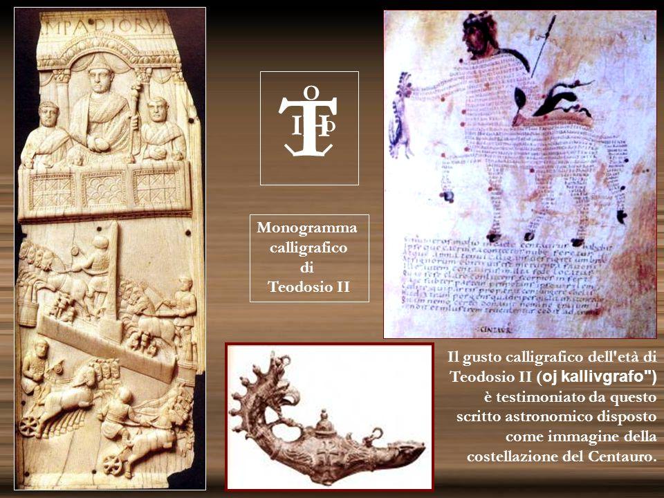 T H I O D Monogramma calligrafico di Teodosio II