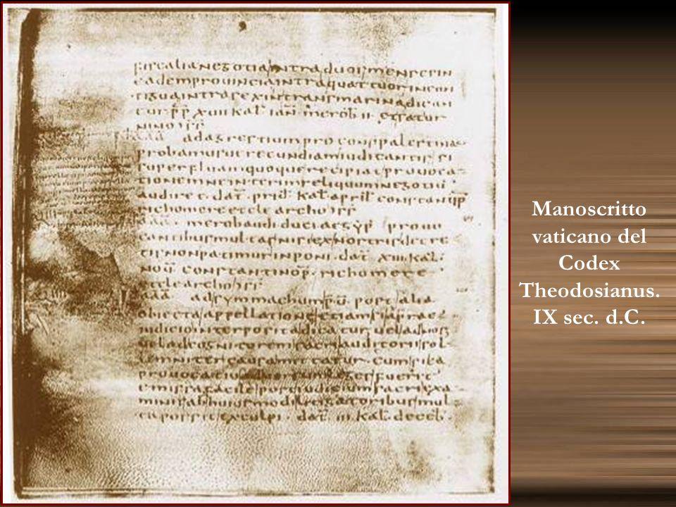 Manoscritto vaticano del Codex Theodosianus.