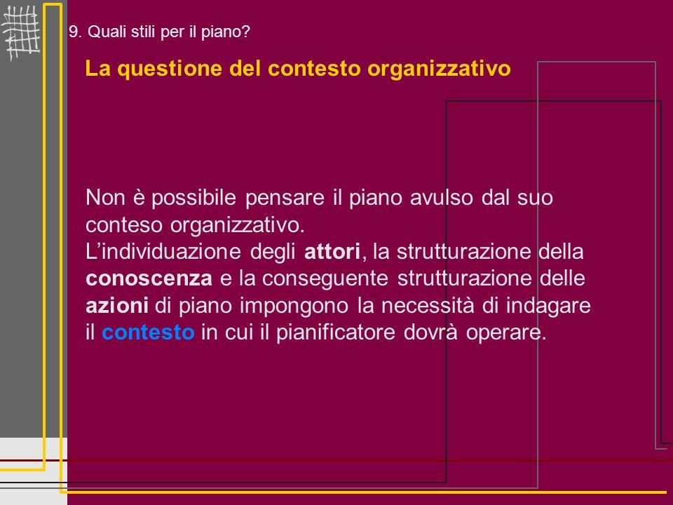 La questione del contesto organizzativo