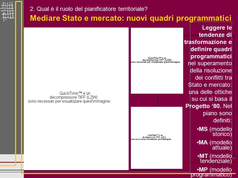 Mediare Stato e mercato: nuovi quadri programmatici