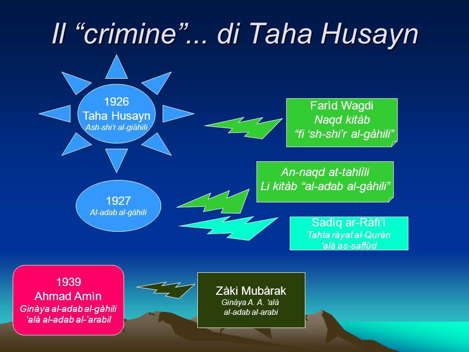 Il crimine ... di Taha Husayn