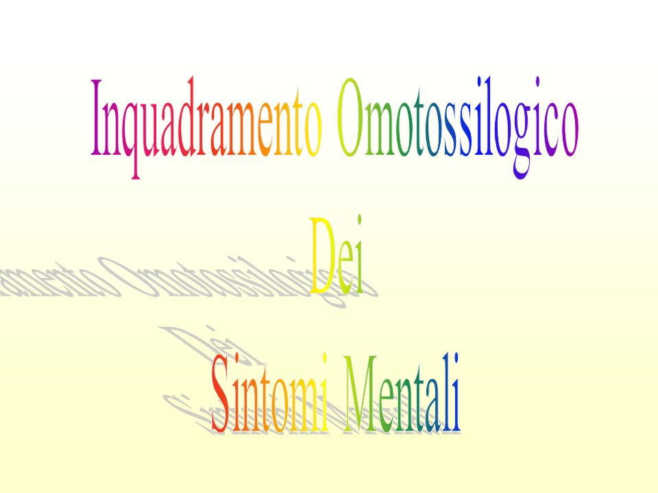 Inquadramento Omotossilogico