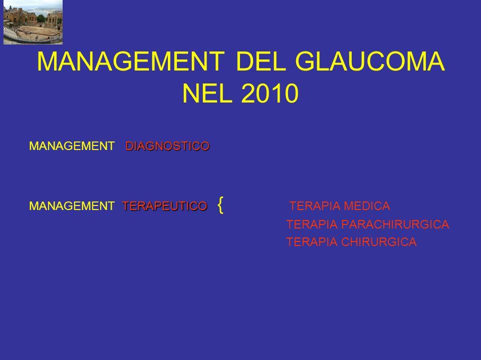 MANAGEMENT DEL GLAUCOMA NEL 2010