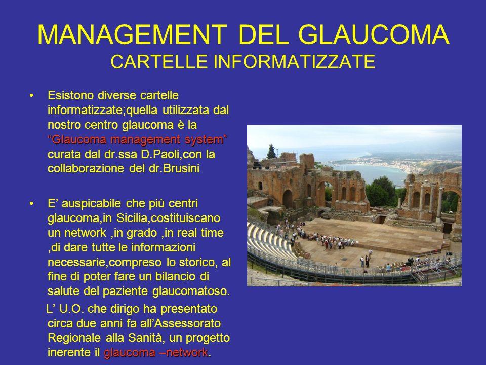 MANAGEMENT DEL GLAUCOMA CARTELLE INFORMATIZZATE