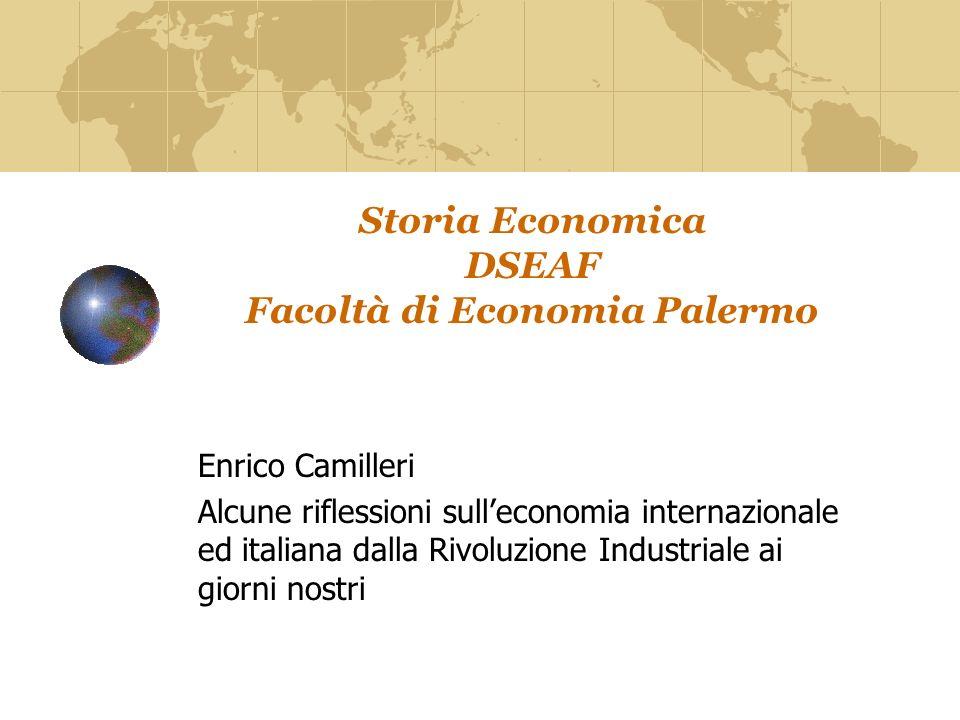 Storia Economica DSEAF Facoltà di Economia Palermo
