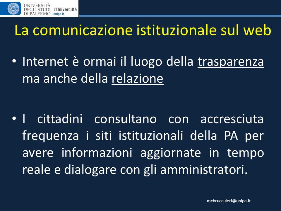 La comunicazione istituzionale sul web