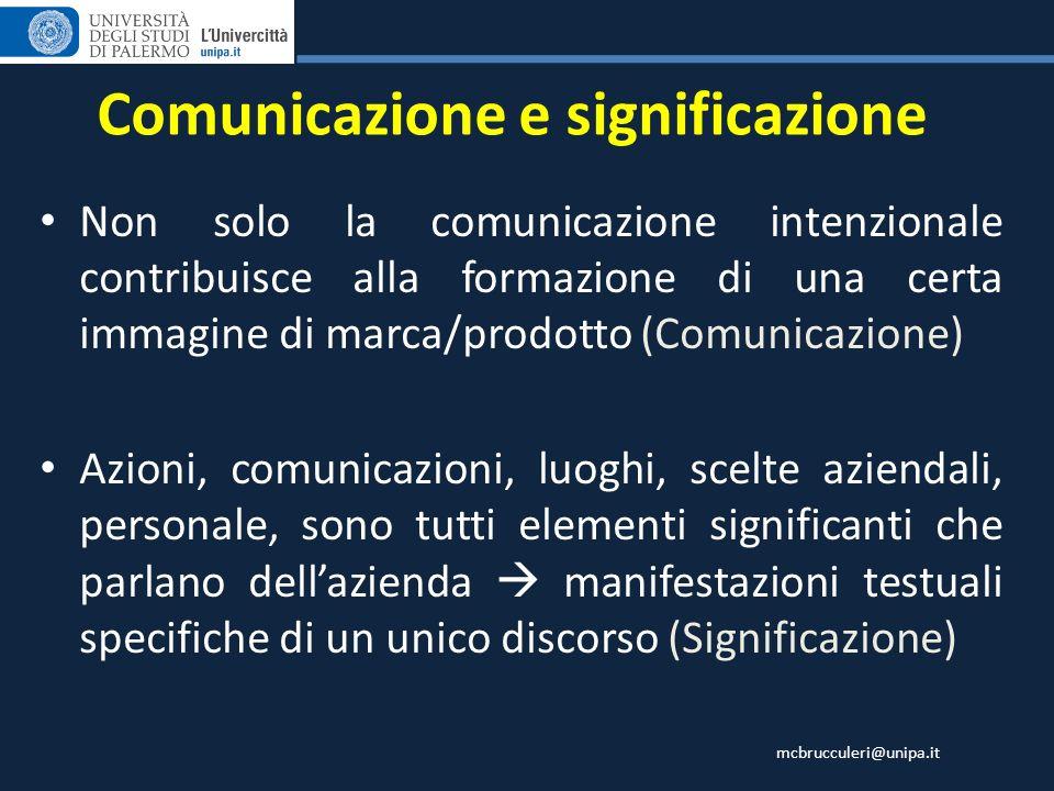 Comunicazione e significazione