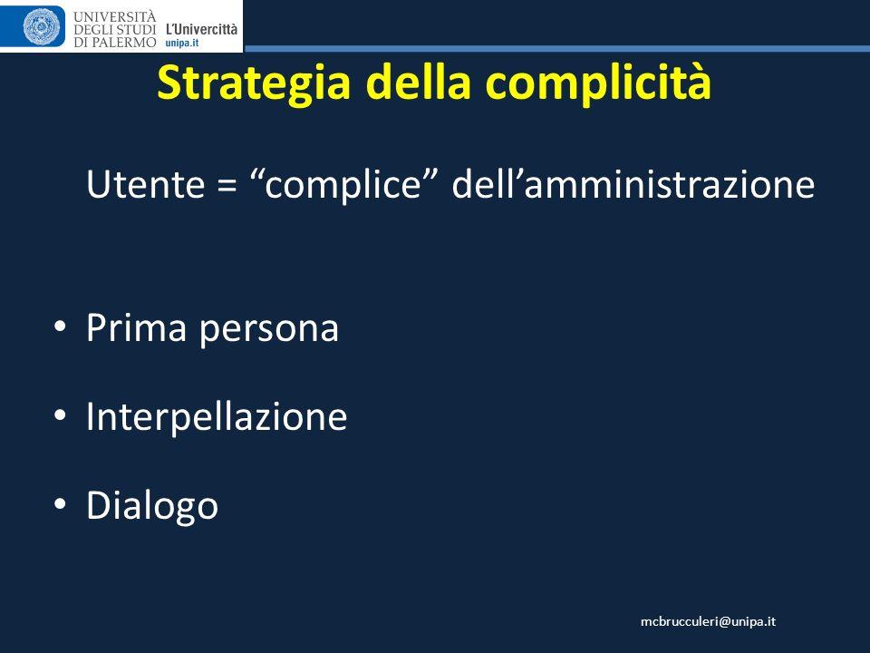 Strategia della complicità