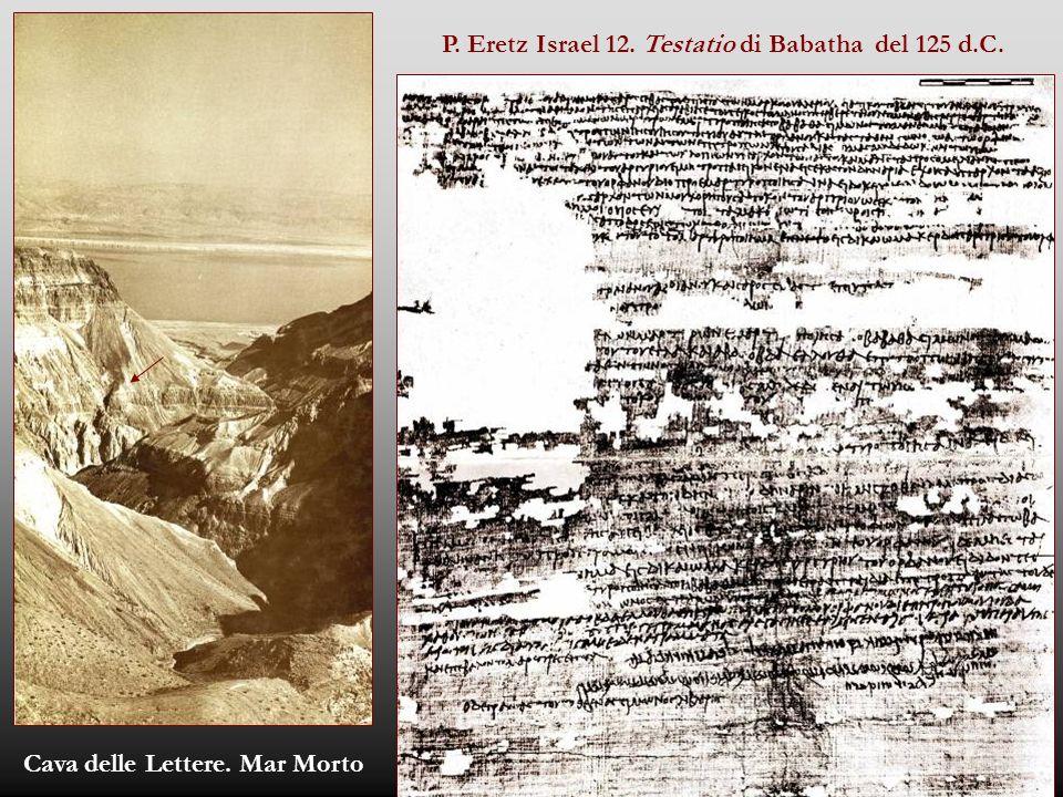 P. Eretz Israel 12. Testatio di Babatha del 125 d.C.