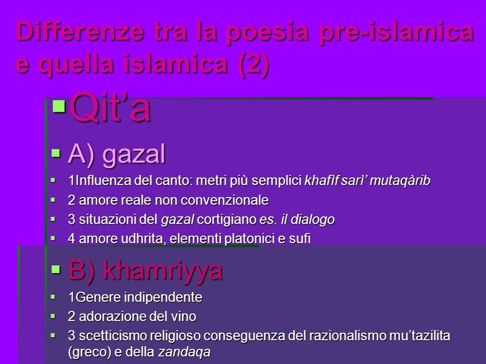 Differenze tra la poesia pre-islamica e quella islamica (2)