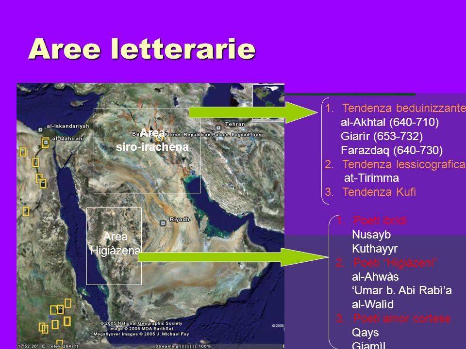 Aree letterarie Tendenza beduinizzante al-Akhtal (640-710)