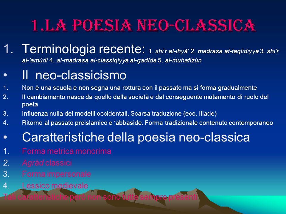 1.La poesia neo-classica