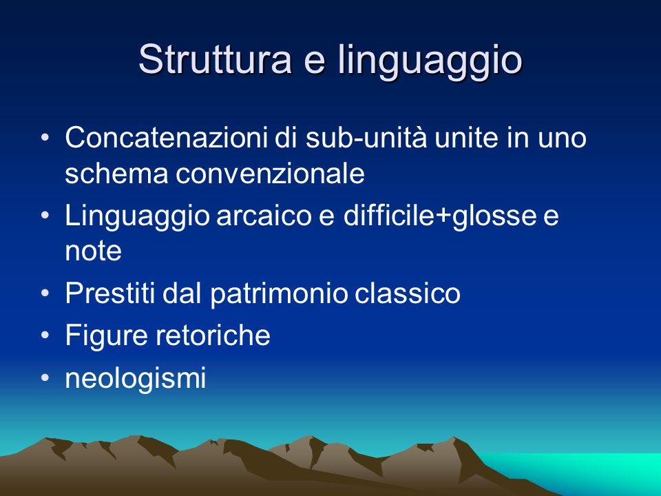 Struttura e linguaggio
