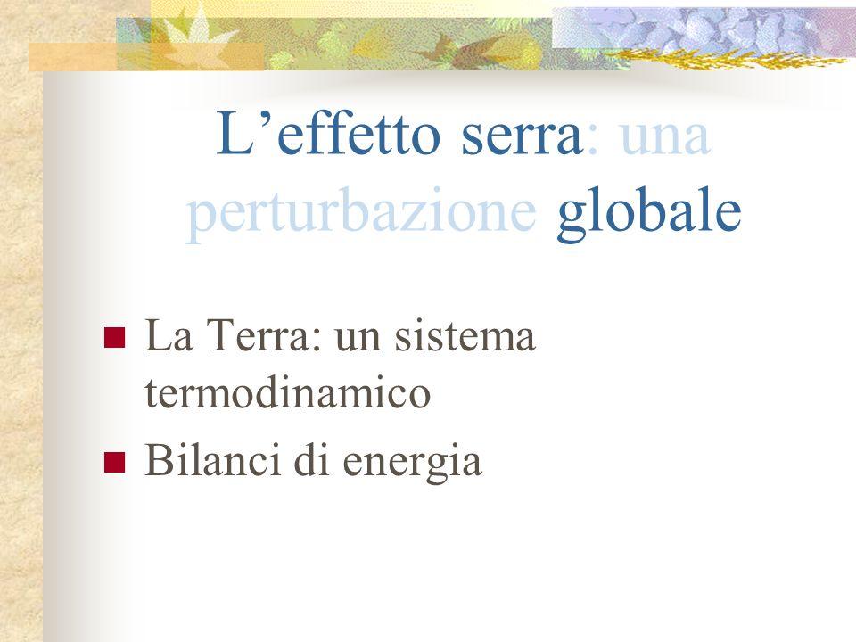 L'effetto serra: una perturbazione globale