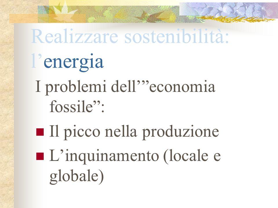 Realizzare sostenibilità: l'energia