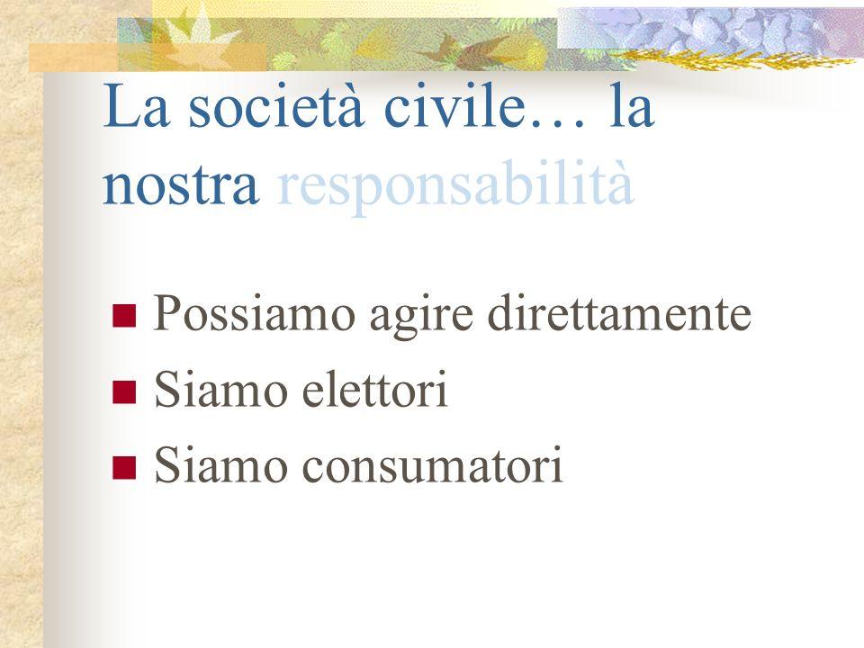 La società civile… la nostra responsabilità