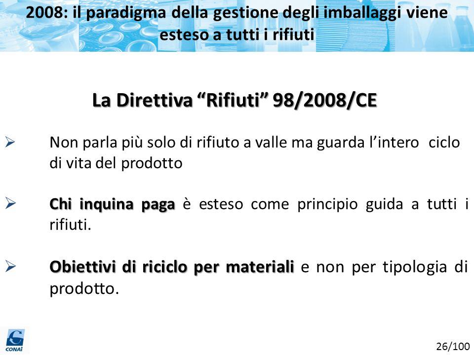 La Direttiva Rifiuti 98/2008/CE