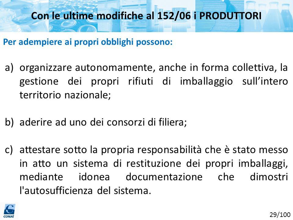Con le ultime modifiche al 152/06 i PRODUTTORI
