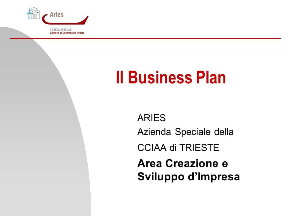 Il Business Plan Area Creazione e Sviluppo d'Impresa ARIES