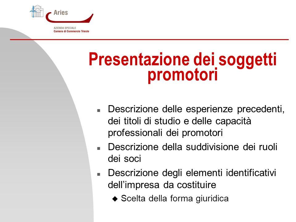 Presentazione dei soggetti promotori