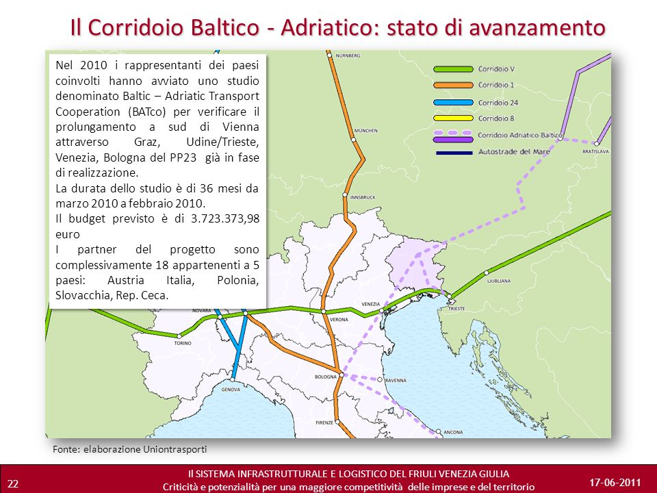 Il Corridoio Baltico - Adriatico: stato di avanzamento