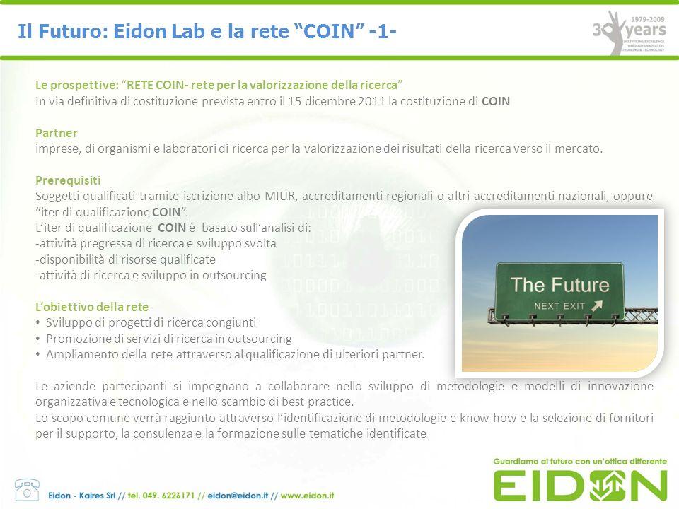Il Futuro: Eidon Lab e la rete COIN -1-